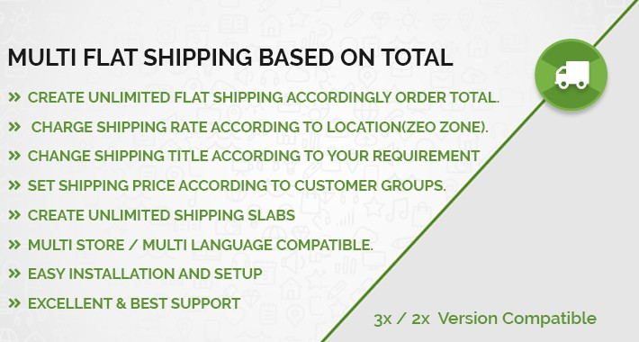 Total Based Shipping with Multi Flat Rate