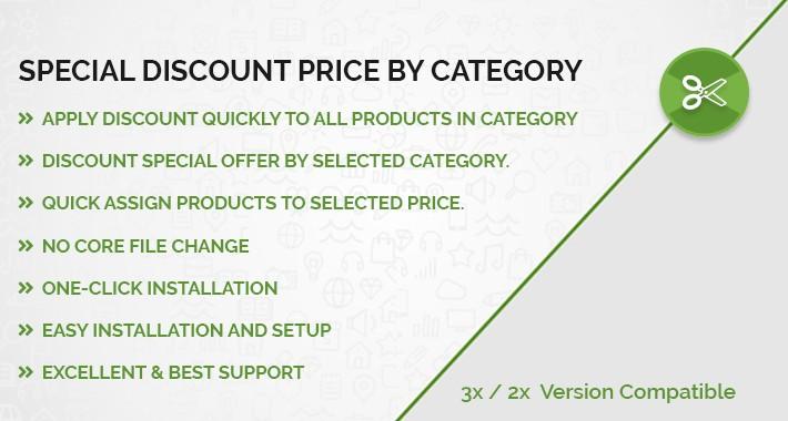 Special discount accordingly categories