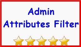 Admin Attributes Filter