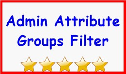 Admin Attribute Groups Filter