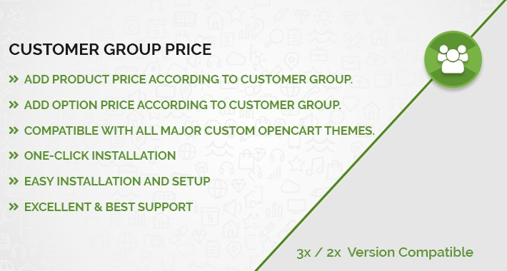 Product & Option Price Accordingly Customer Group