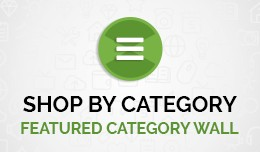 Shop By Category / Featured Category Wall