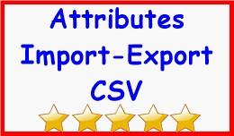 Attributes Import-Export CSV