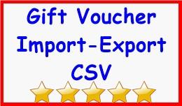 Gift Voucher Import-Export CSV