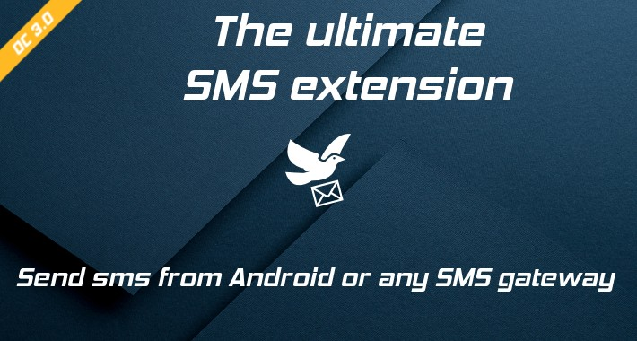 Smshare - SMS from Android or any Gateway - Opencart 3
