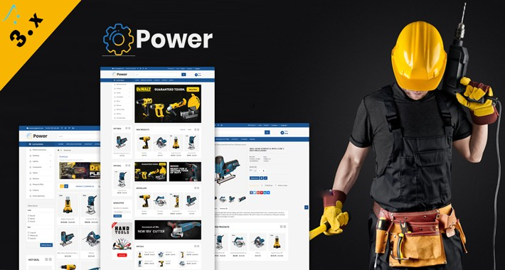 Power Tools OpenCart 3.X Website Theme