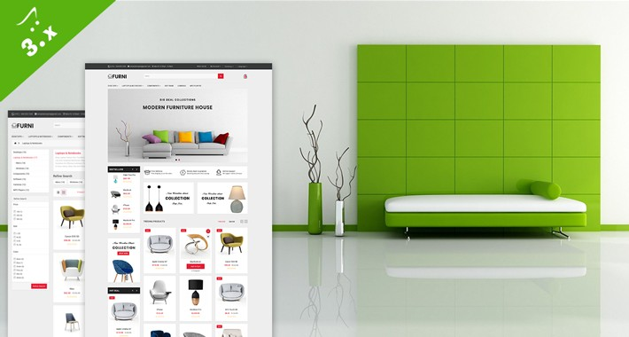 Furniture OpenCart 3.X Website Theme