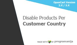 Disable Products Per Customer Country (Geo IP Tr..