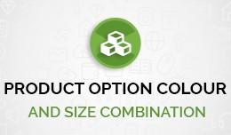 Product Option Colour & Size Combination