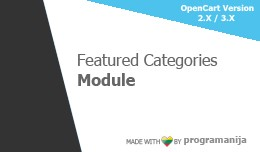 Featured Categories Module