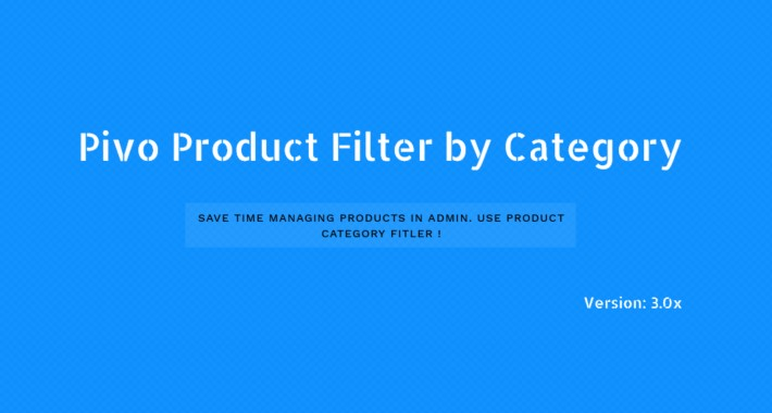 Admin Product Filter by Category In Product List 3.0x