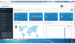 Show on admin dashboard currency