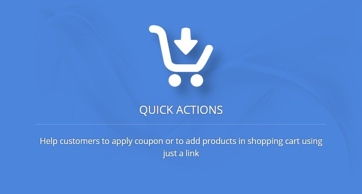 Quick Actions - apply coupon & add in cart from URL