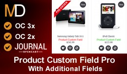 Product Custom Field Pro  - Journal 2 & 3 Th..