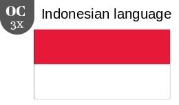 Indonesian language 3x