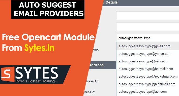 Auto Suggest Email Providers - OpenCart Community