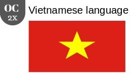 Vietnamese language 2x