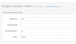 Google Customer  Review ( with admin settings )