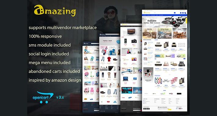 Amazing - Responsive Marketplace Opencart 3 Theme
