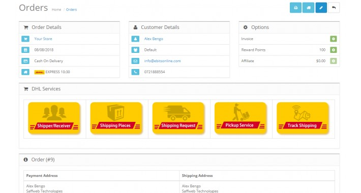 DHL Express Shipping/Pickup/Tracking