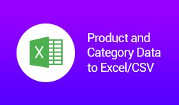 Product and Category Data to Excel/CSV (OCMOD)