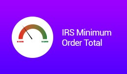 IRS Minimum Order Total VQMOD / OCMOD