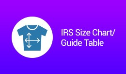 IRS Size Chart / Guide Table VQMOD / OCMOD