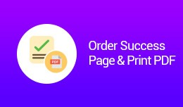 Order Success Page & Print PDF(VQMOD)