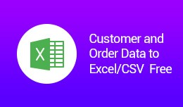 Customer and Order Data to Excel/CSV (vQmod) Free