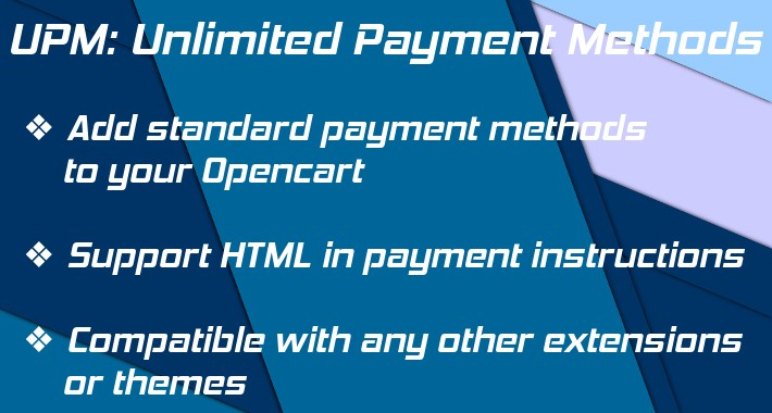 Add Payment Methods: new, unlimited, custom payment methods OC3