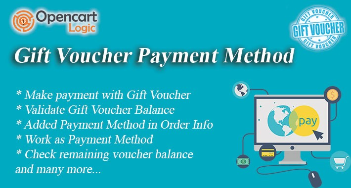 Opencart Gift voucher as Payment Method