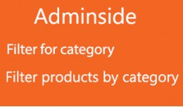 Admin category filter