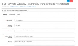 MIGS Payment Gateway 2.5D Party (MerchantHosted)