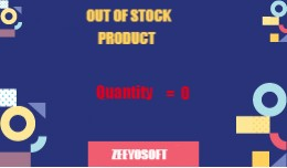 Out Of Stock for product quantity free(VQMOD)