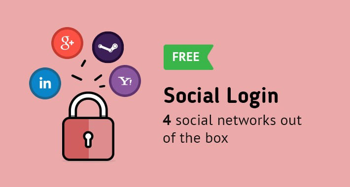 Social Login FREE (Google, LinkedIn, Yahoo, Steam)