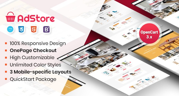 AdStore - Multipurpose Responsive OpenCart 3 Theme