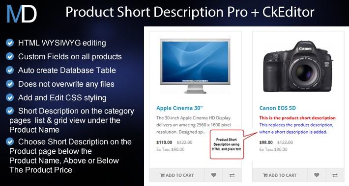Product Short Description Pro + CkEditor