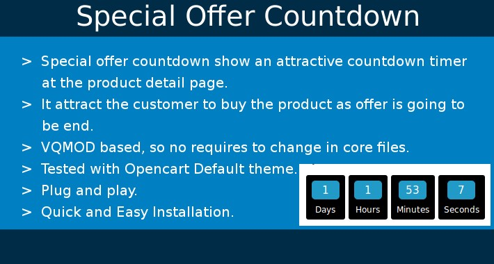 Special offer countdown