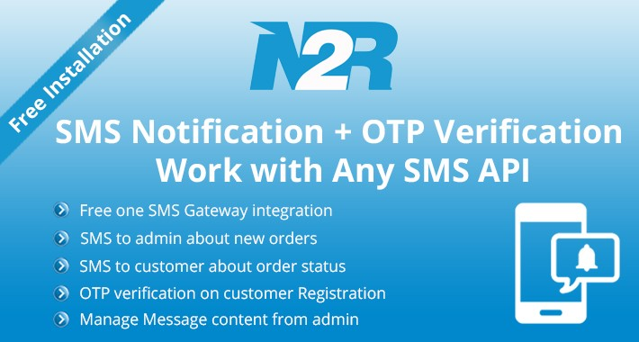 OpenCart - SMS Notification + OTP Verification  Work with