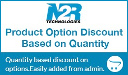 Product Option Discount Based on Quantity