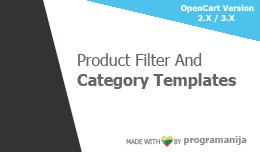Filter And Category Templates (predefined)