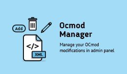OCMOD manager for Opencart