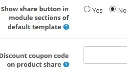 Share product in facebook with coupon code option