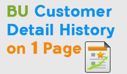 BU Customer Purchase History on 1 Page