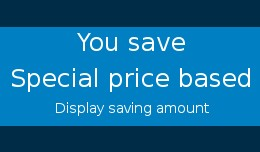 You save Special price based