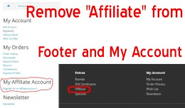 Remove Affiliate - Footer and My Account - OpenC..