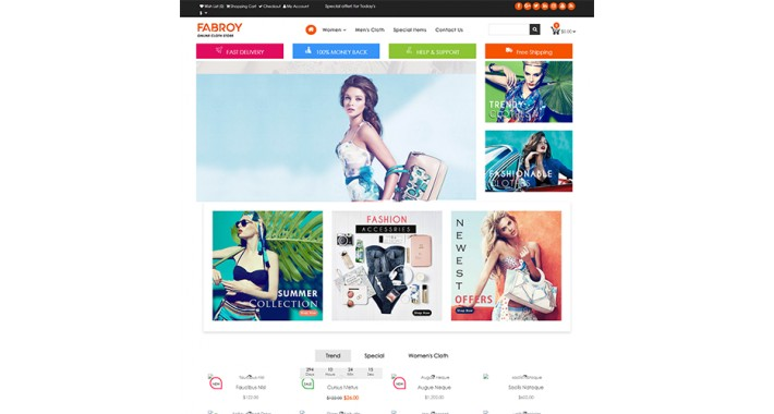 Fabroy Opencart Multi Purpose Opencart Responsive Theme