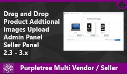 Drag & Drop Product Images Purpletree Vendor..