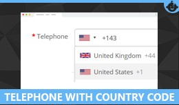 Telephone With Country  Code  with Custom field ..