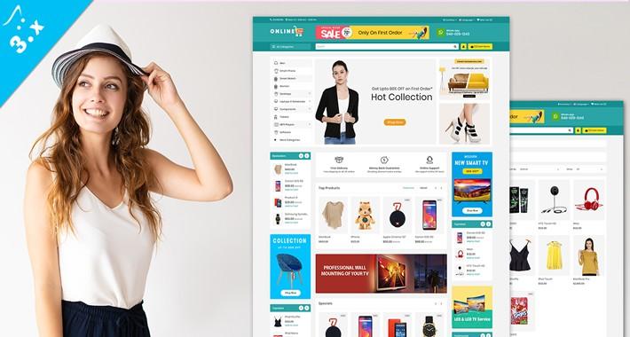 Online Shop Ecommerce OpenCart 3.X Website Theme